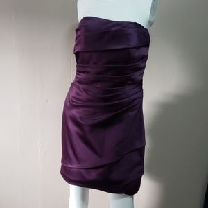 David' Bridal Ladies Purple Strapless Dress Sz 6